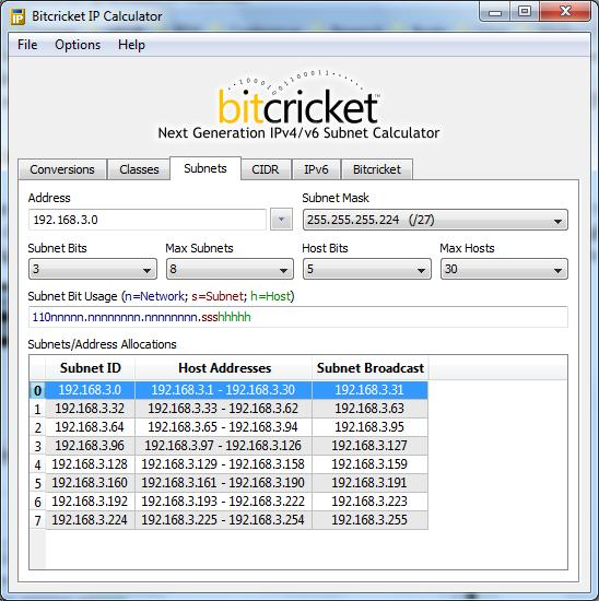 Subnet Mask Calculator 3
