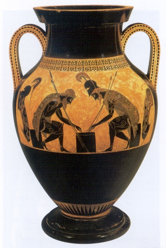 Exekias Achilles And Ajax Playing Dice