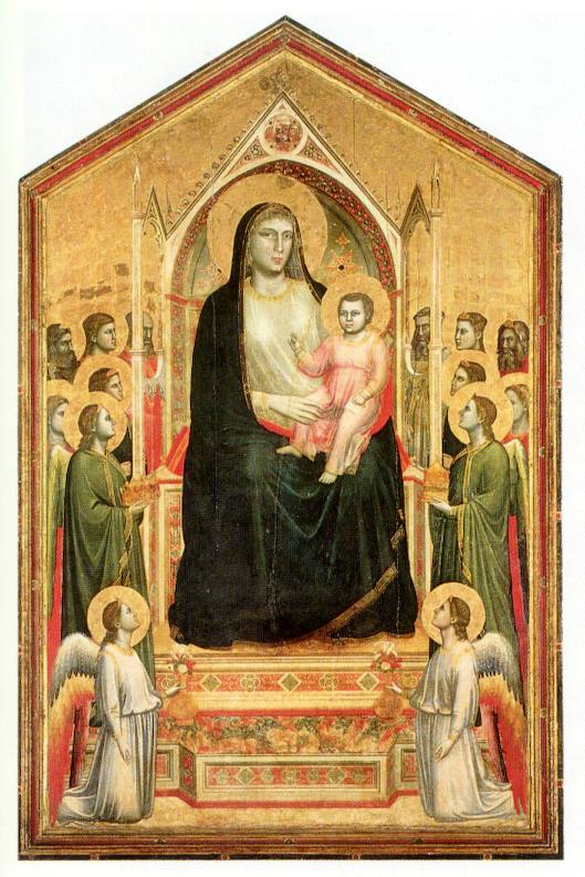 Madonna enthroned giotto What is style